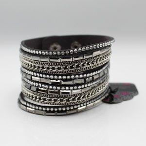 Gray wrap bracelet